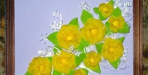 поделки из крепированной бумаги - букет роз