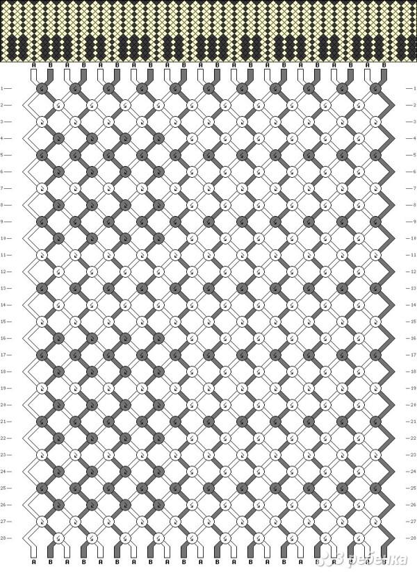 Схемы для фенечек с рисунками