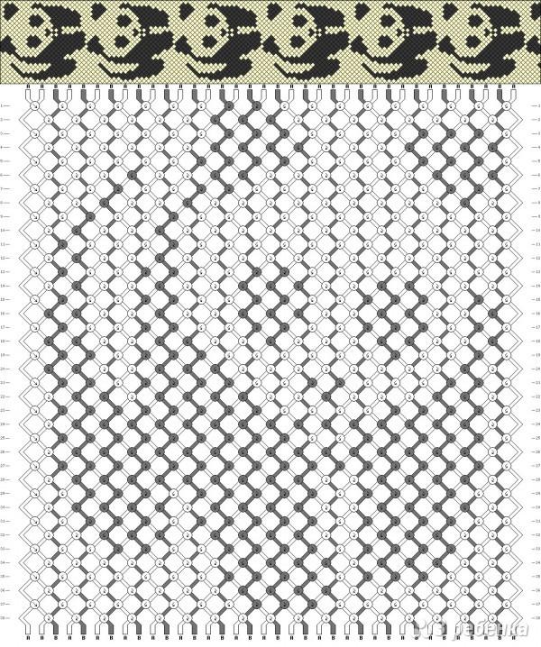 схема плетения панды