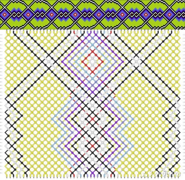 фенечки из мулине с рисунком: