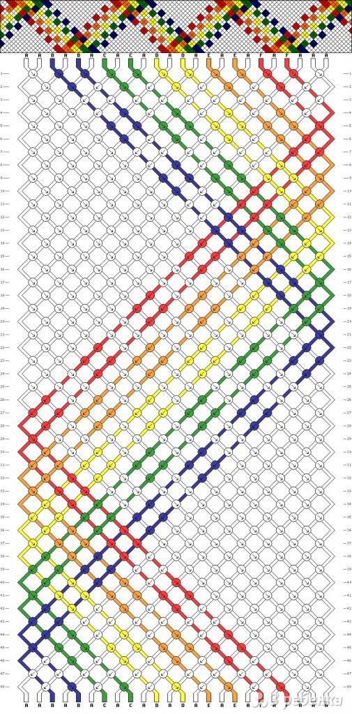 схема фенечки с квадратным