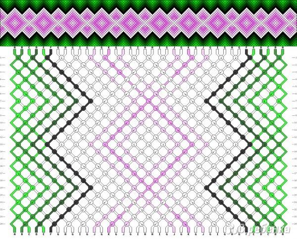 Фенечка из мулине с картинкой схема
