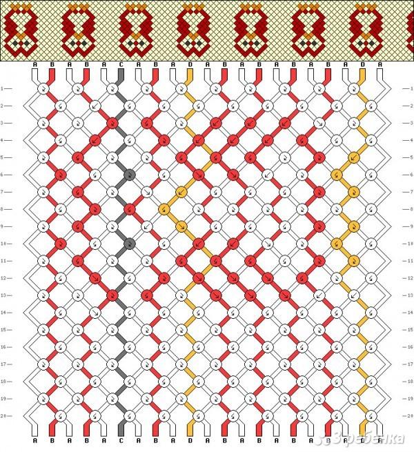Схема фенечки сова