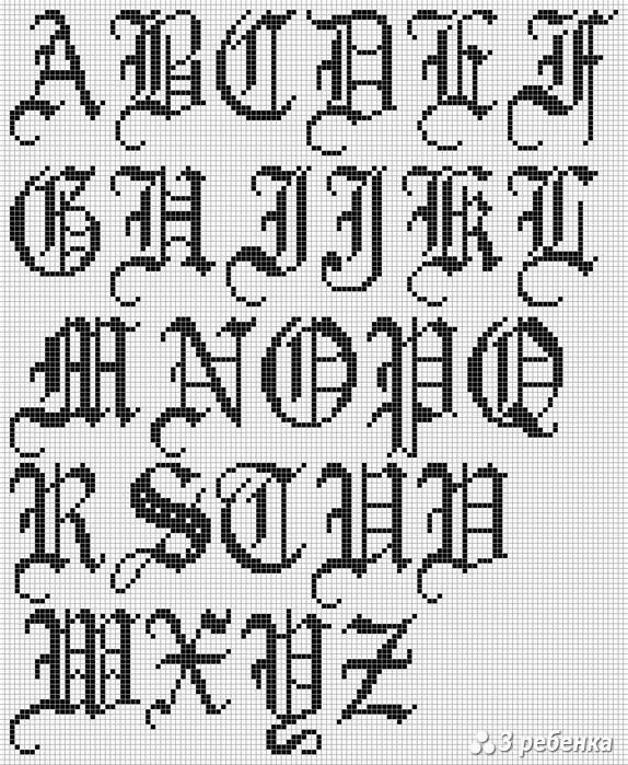 готические алфавит готические