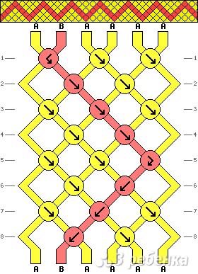 Схема фенечки 1431