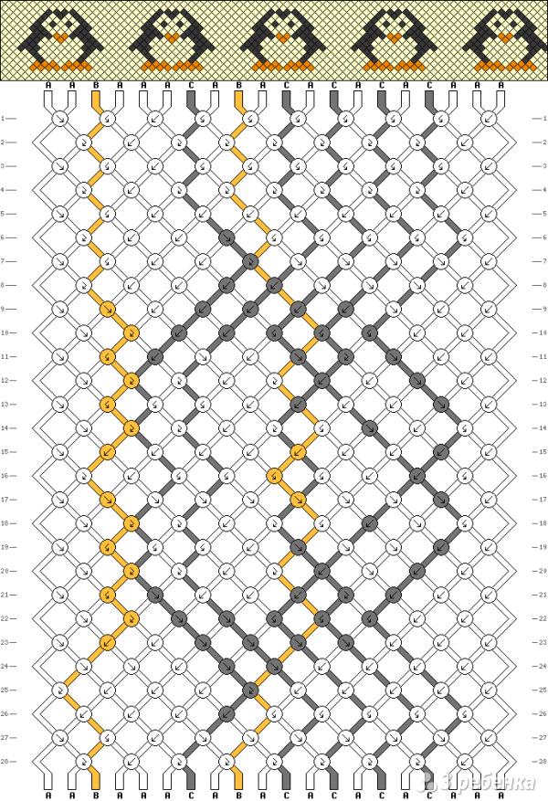 Схема фенечки 1041
