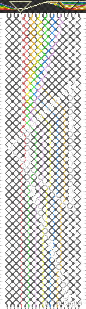 Схема фенечки 2532