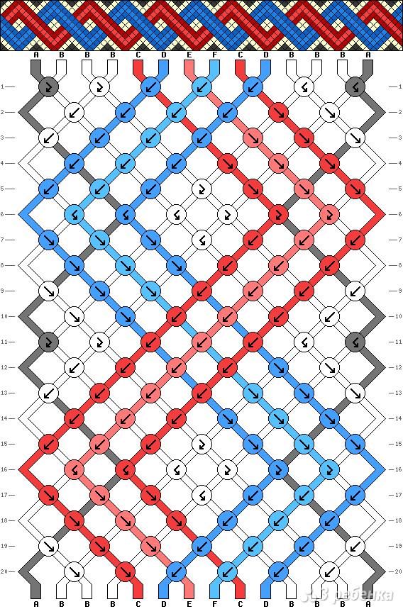 Схема фенечки 2733
