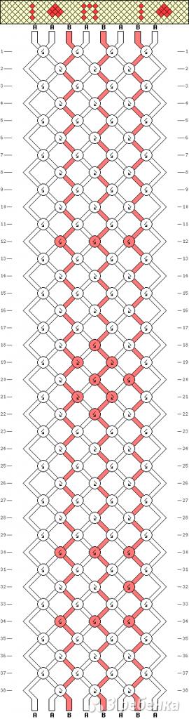 Схема фенечки 1861