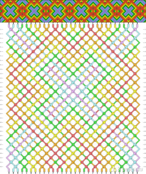 Схема фенечки 2324