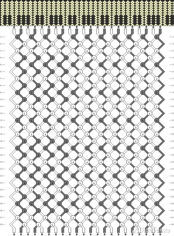 Схема фенечки 1718