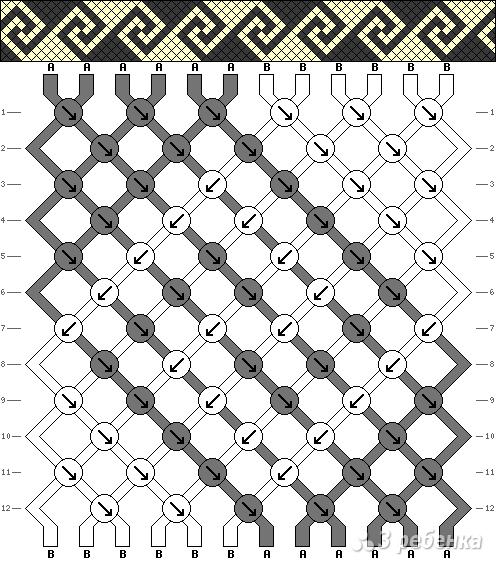 Схема фенечки 1147