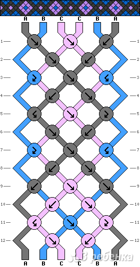 Схема фенечки 2175