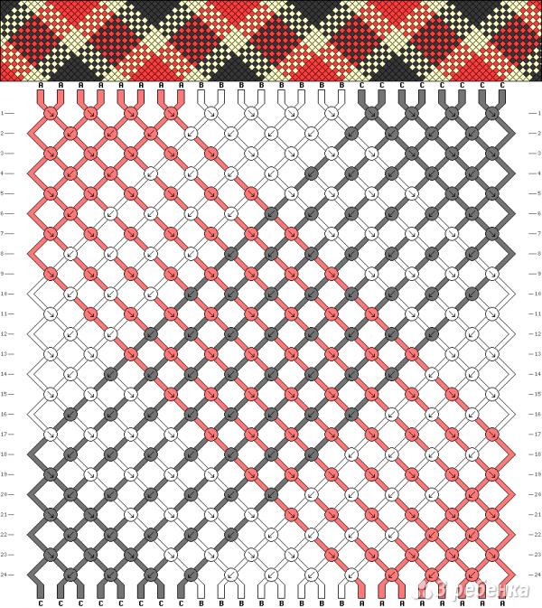 Схема фенечки 1228