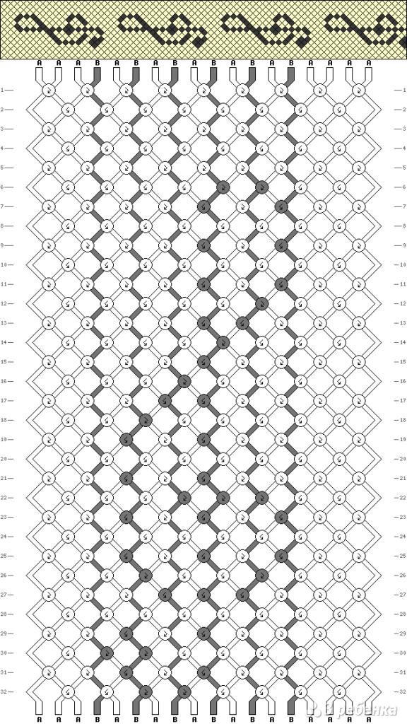 Схема фенечки 1901