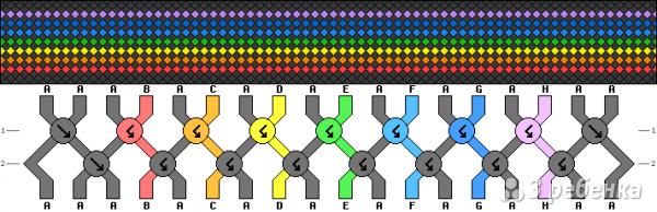 Схема фенечки 2368