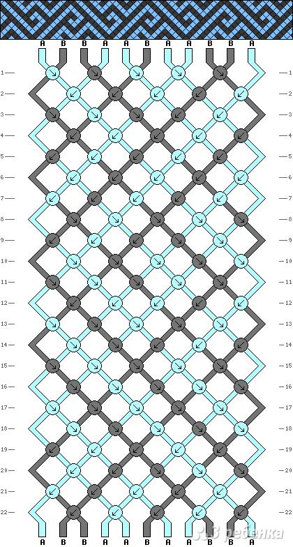 Схема фенечки 1414