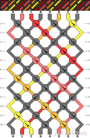Схема фенечки 2112