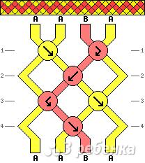 Схема фенечки 2488