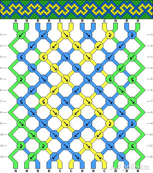 Схема фенечки 2639