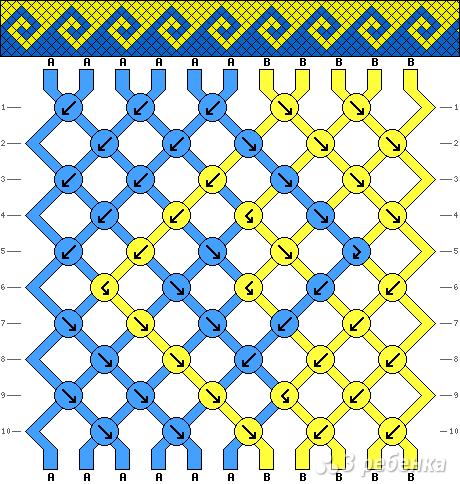 Схема фенечки 1167