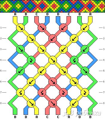 Схема фенечки 1962