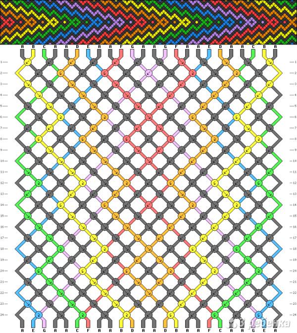 Схема фенечки 1575