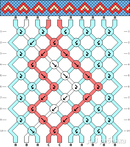 Схема фенечки 2085