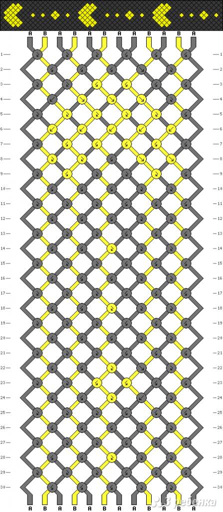 Схема фенечки 1997