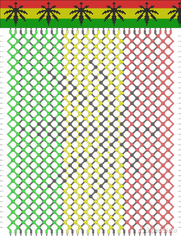 Схема фенечки 1330