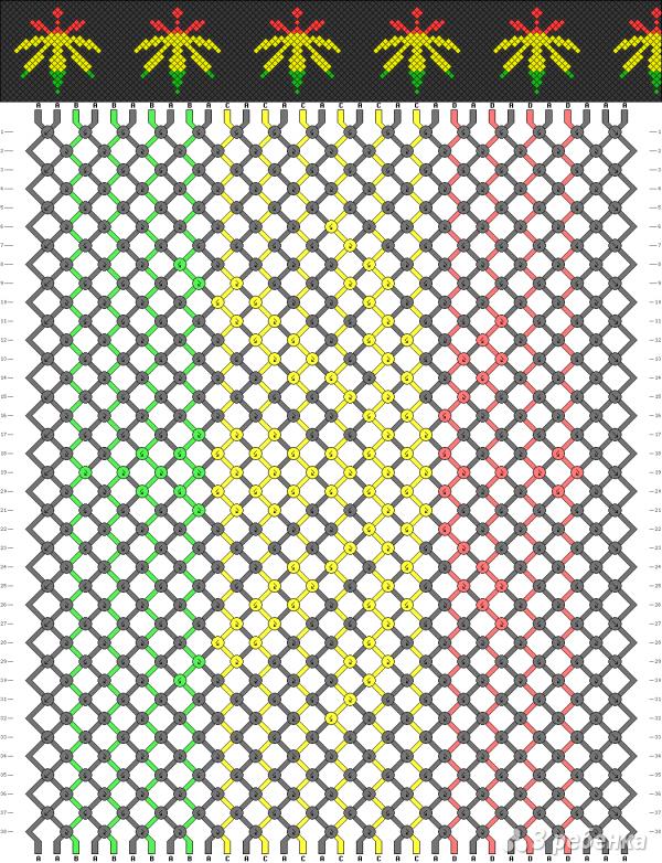 Схема фенечки 2216