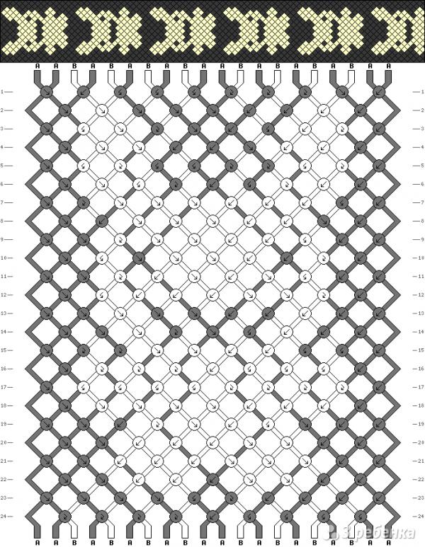 Схема фенечки 1801