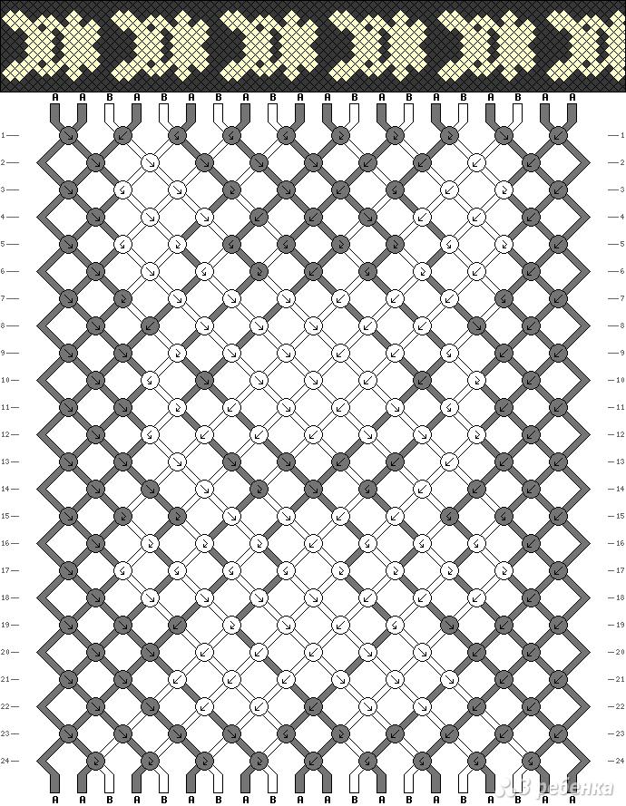 Милые схемы для фенечек