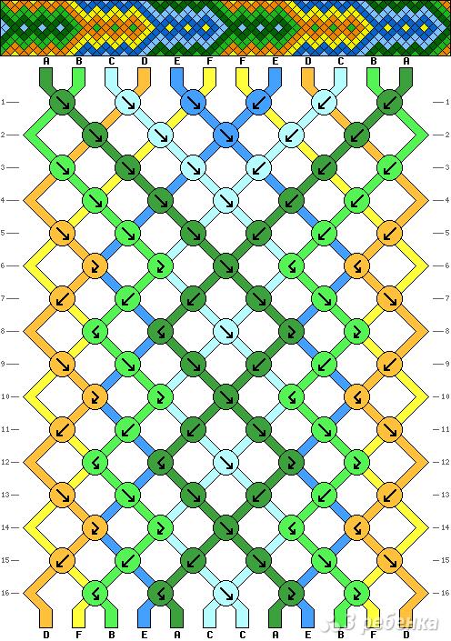 Схема фенечки 2615
