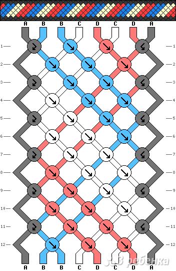 Схема фенечки 2058