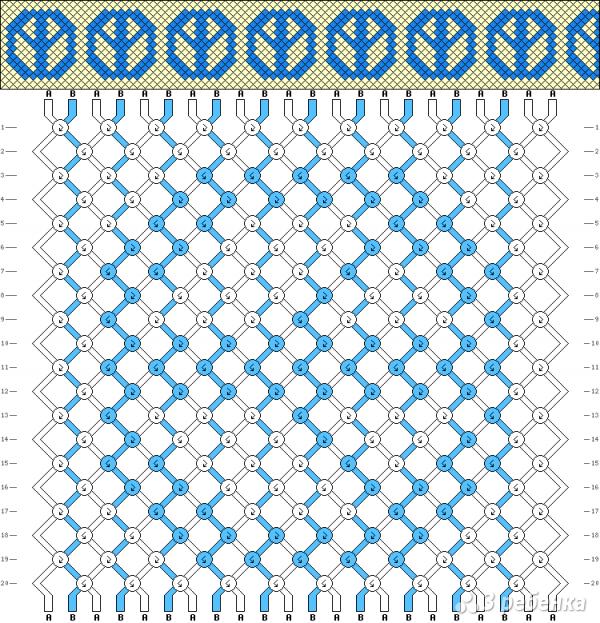 Схема фенечки 1818