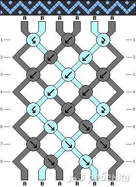 Схема фенечки 2204