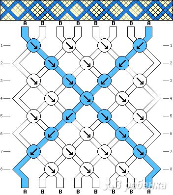 Схема фенечки 1312
