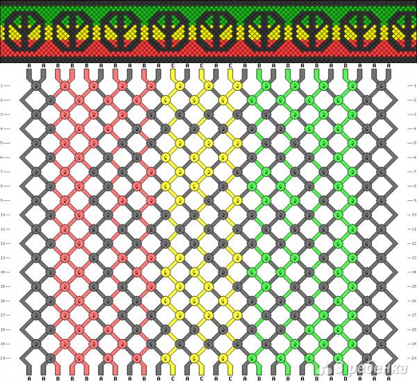 Схема фенечки 1653