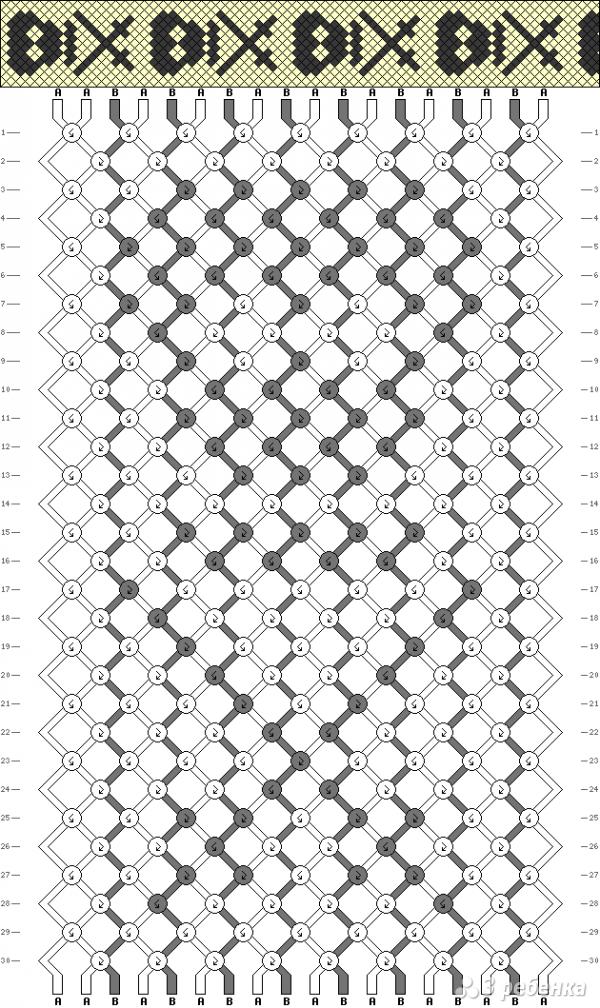 Схема фенечки 2447