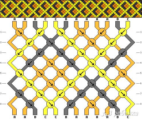 Схема фенечки 2148