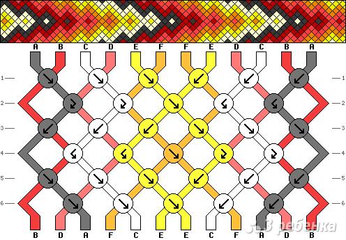 Схема фенечки 1121