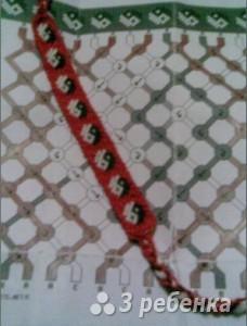 Схема фенечки 1102
