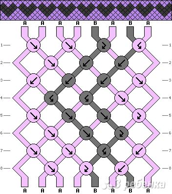 Схема фенечки 1607