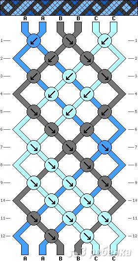 Схема фенечки 2686