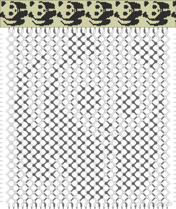 Схема фенечки 1273