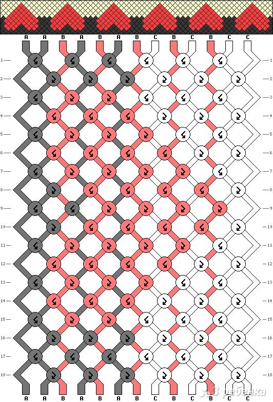 Схема фенечки 2779