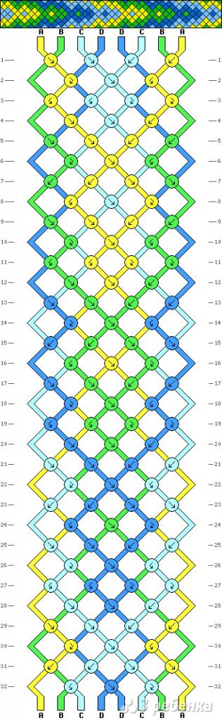 Схема фенечки 2599