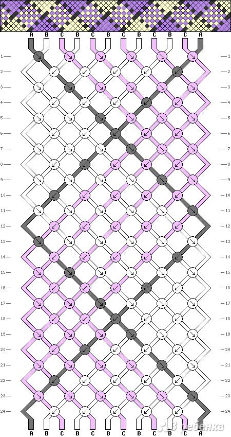 Схема фенечки 1757