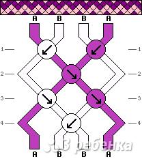 Схема фенечки 1732